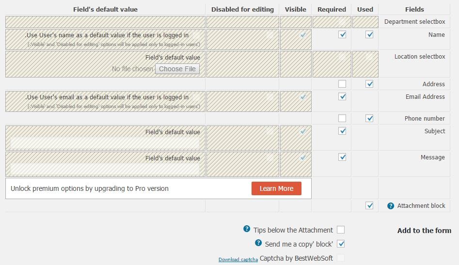 افزونه Contact Form by BestWebSoft