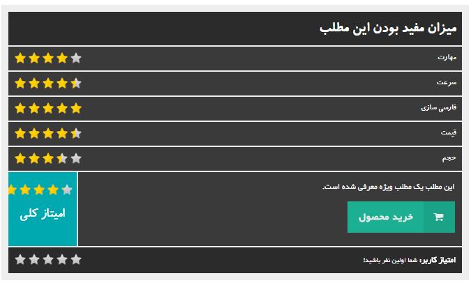 افزونه taqyeem | افزونه وردپرس بررسی و امتیاز دهی