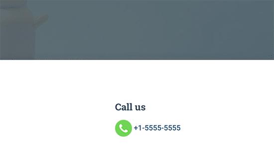 دکمه تماس در وردپرس
