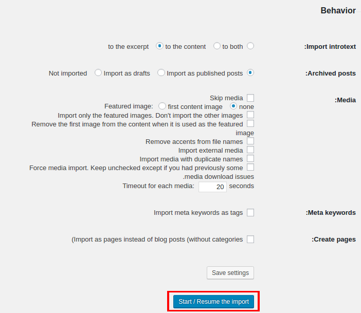 انتقال سایت جوملا به وردپرس