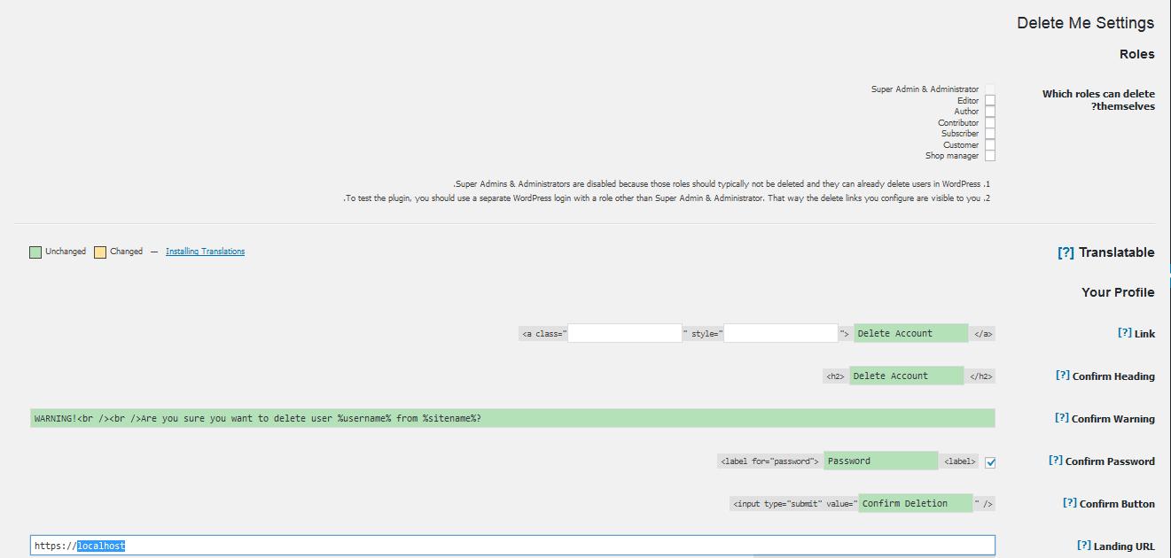 اجازه دادن به کاربران برای حذف حساب های وردپرس خود