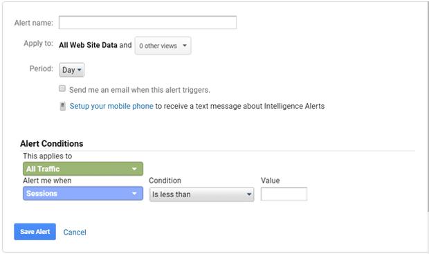 ایجاد هشدارهای سفارشی در گوگل آنالیتیکس