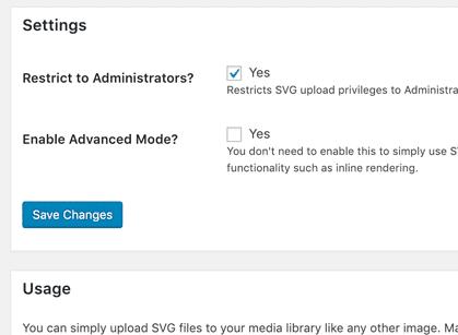 اضافه کردن SVG در وردپرس