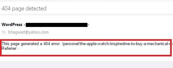 ایمیل خطا 404