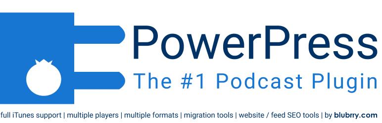 افزونه PowerPress Podcasting