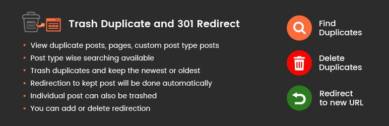 افزونه Trash Duplicate and 301 Redirect