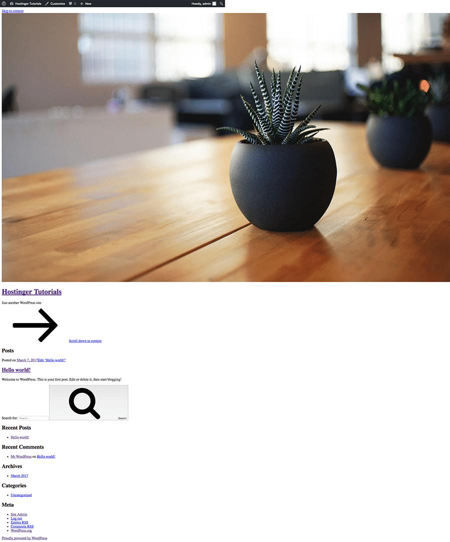 وردپرس بدون CSS
