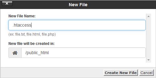 ساخت فایل .htaccess