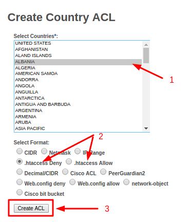 ایجاد لیست IP کشورها