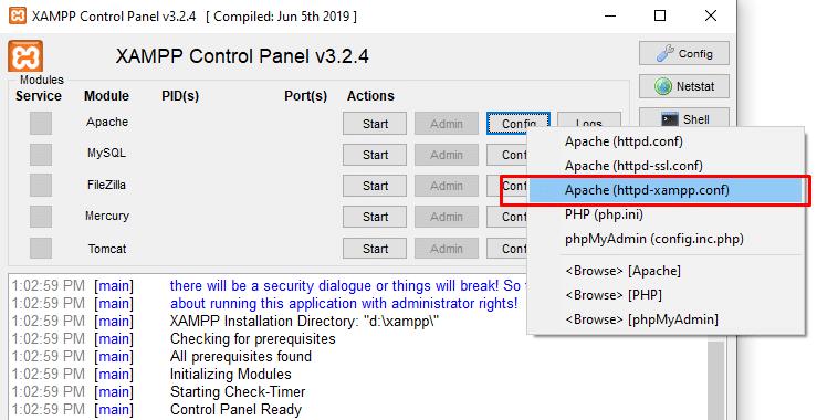 پیکربندی سرور Apache