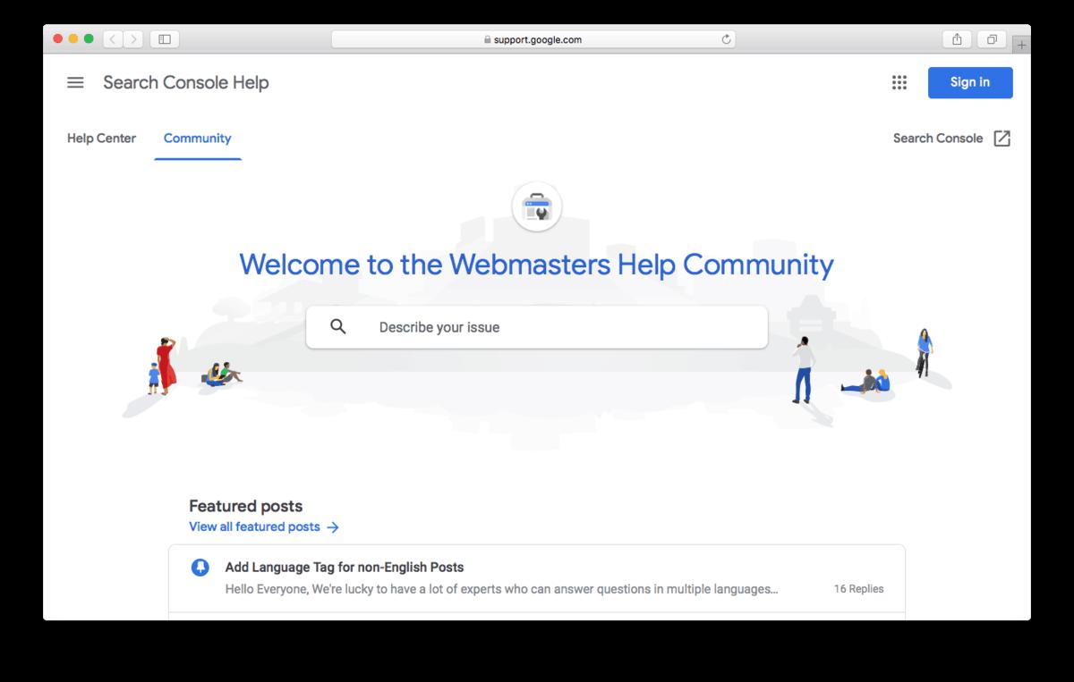 انجمن راهنمای Google Webmaster