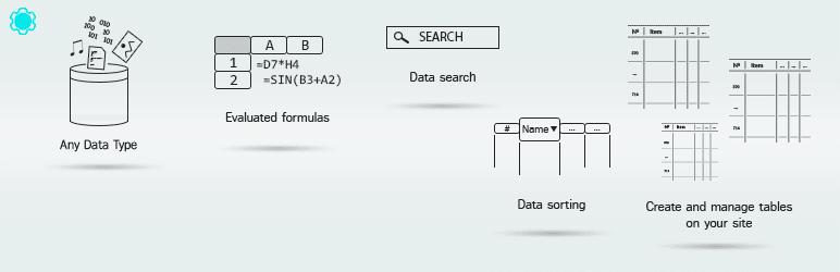 افزونه Data Tables Generator