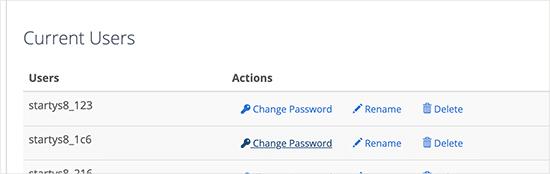 تغییر رمز پایگاه داده