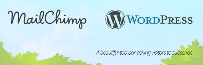 افزونه MailChimp Top Bar
