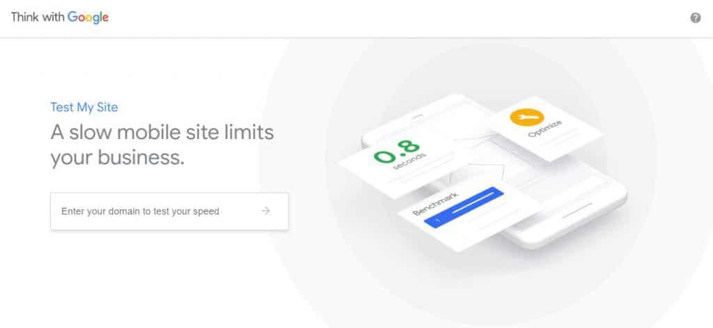 ابزار تست سرعت سایت testmysite