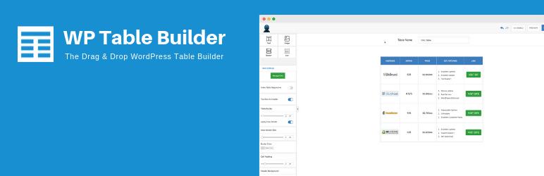 افزونه WP Table Builder