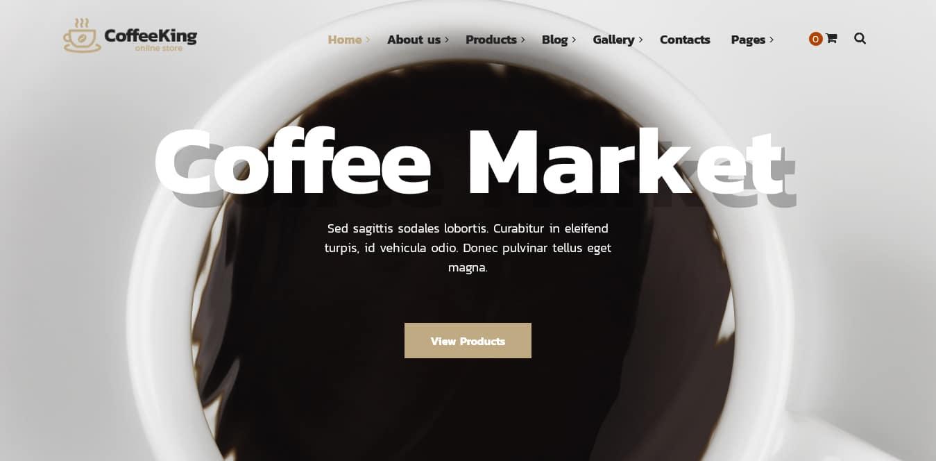 قالب کافی شاپ CoffeeKing