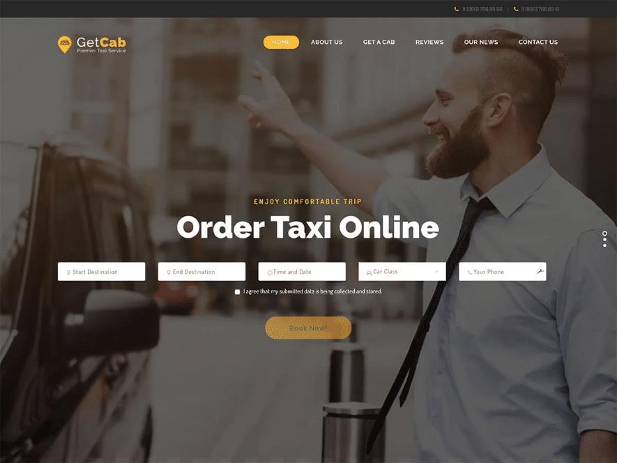 قالب تاکسی GetCab