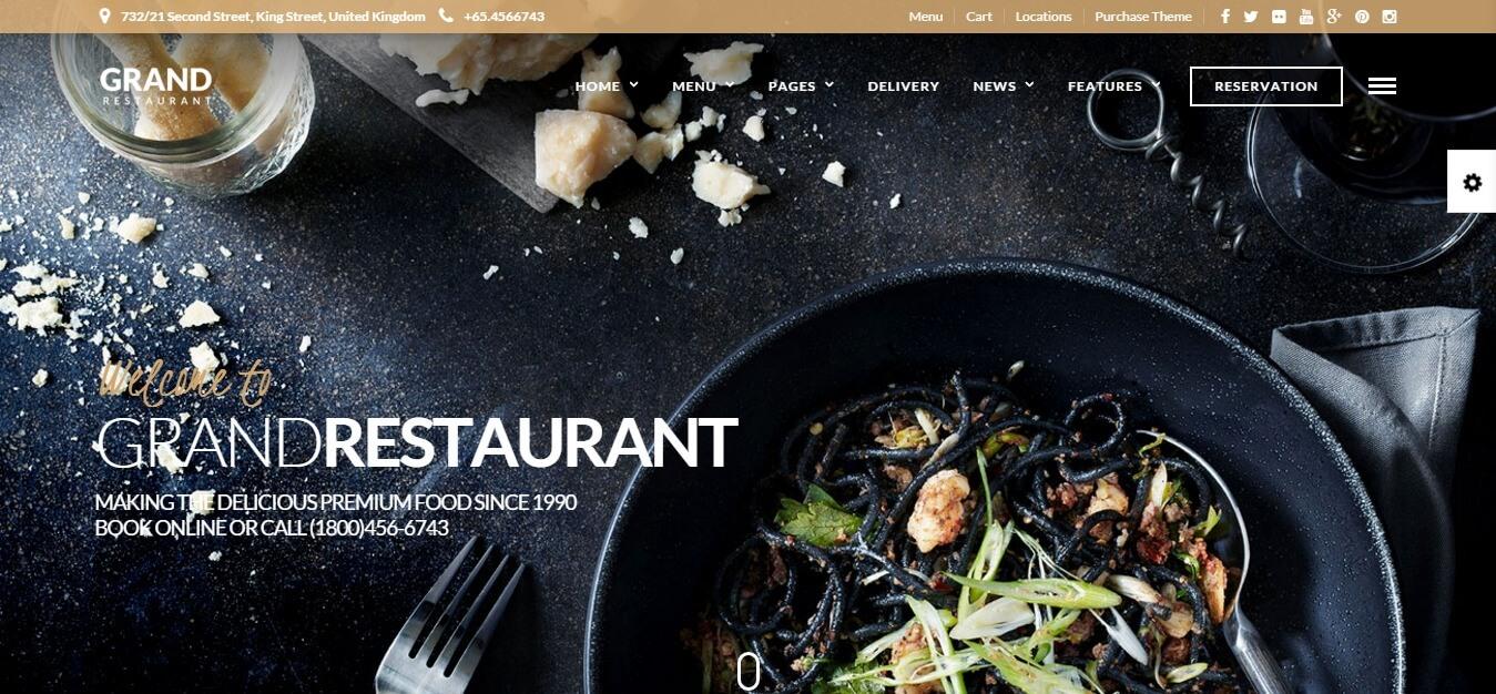 قالب Grand Restaurant