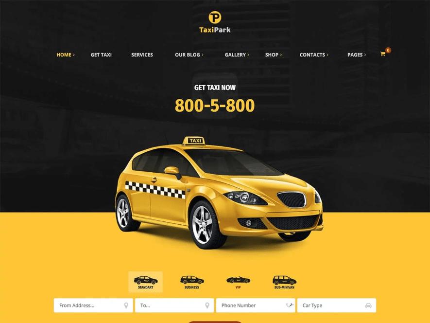 قالب وردپرس خدمات تاکسی Taxi Park