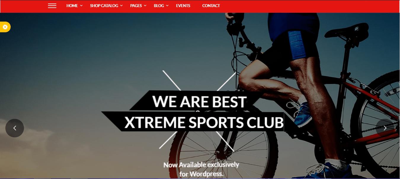 قالب ورزشی Xtreme Sports
