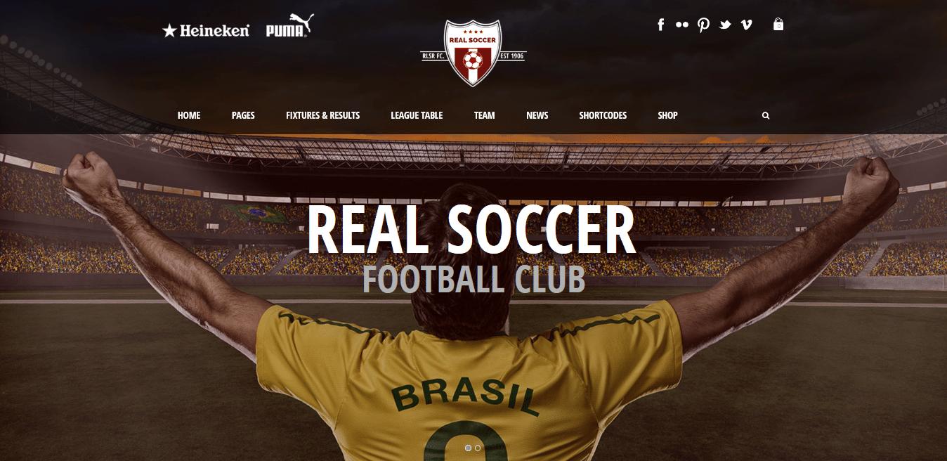 قالب Real Soccer