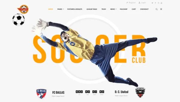 قالب Soccer Club