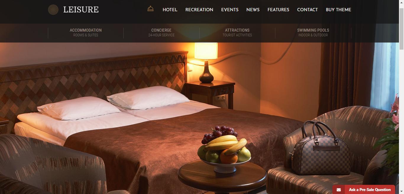 قالب Hotel Leisure