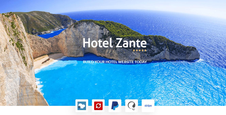 قالب Hotel Zante