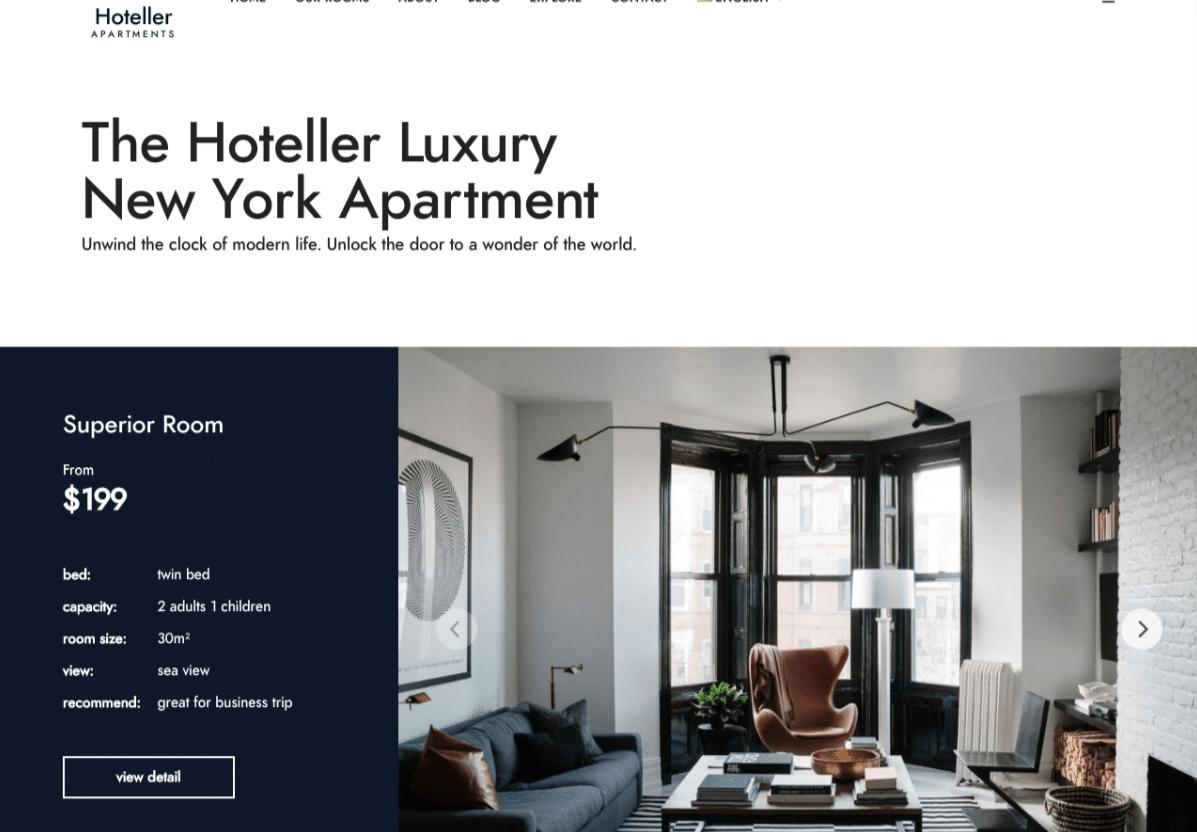 قالب Hoteller