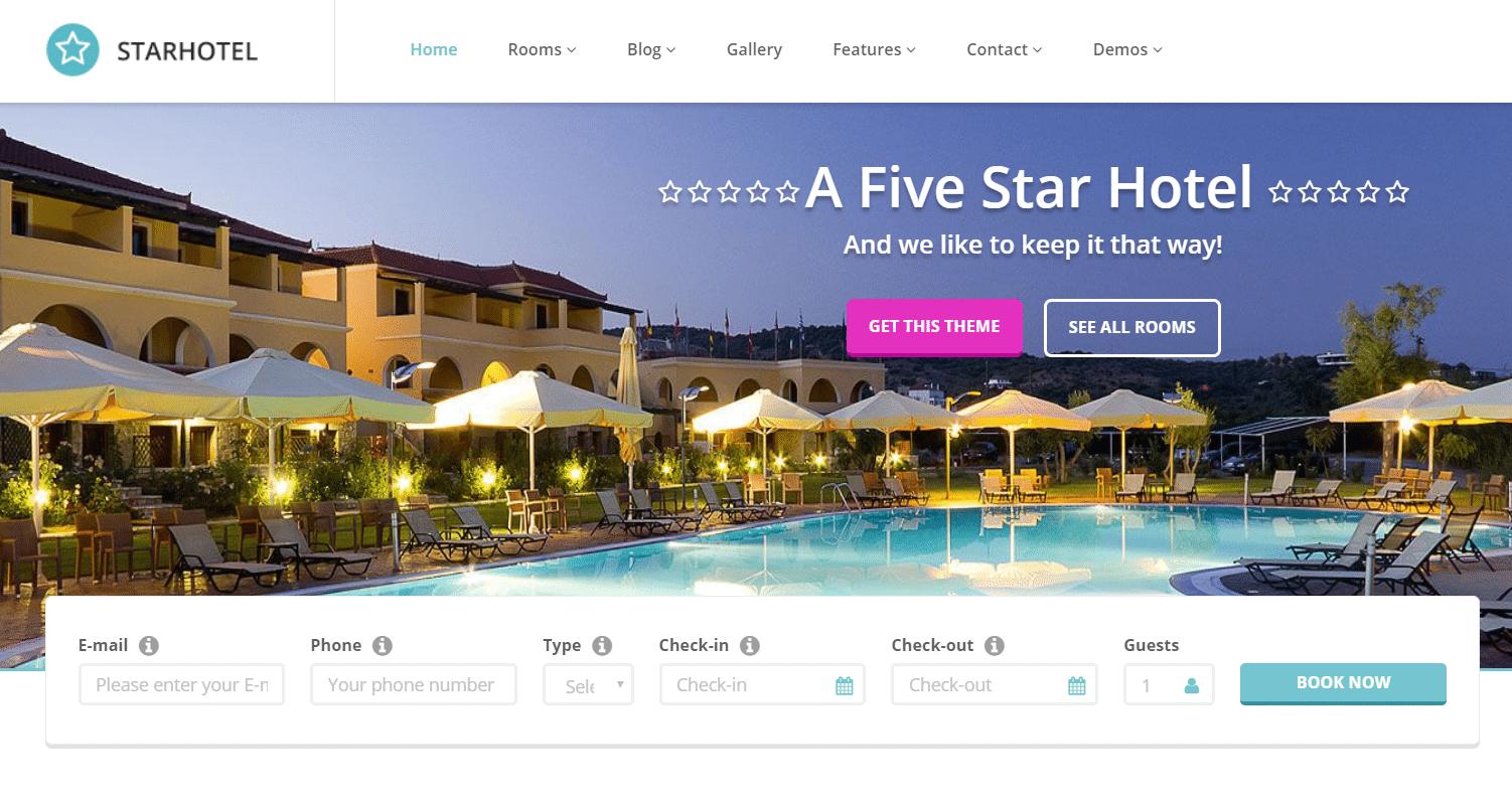 قالب Starhotel