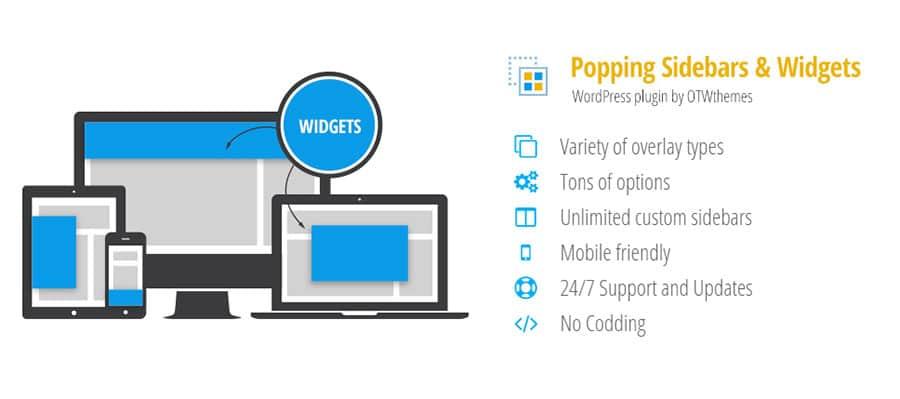 افزونه Popping Sidebars & Widgets