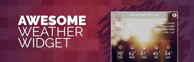 افزونه Awesome Weather Widget
