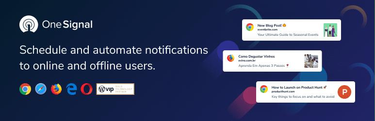 افزونه OneSignal – Web Push Notifications