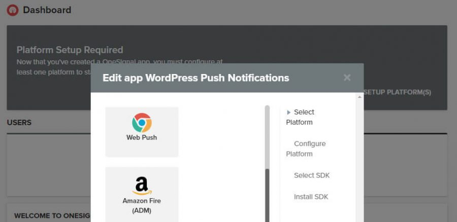 اعلان Web Push