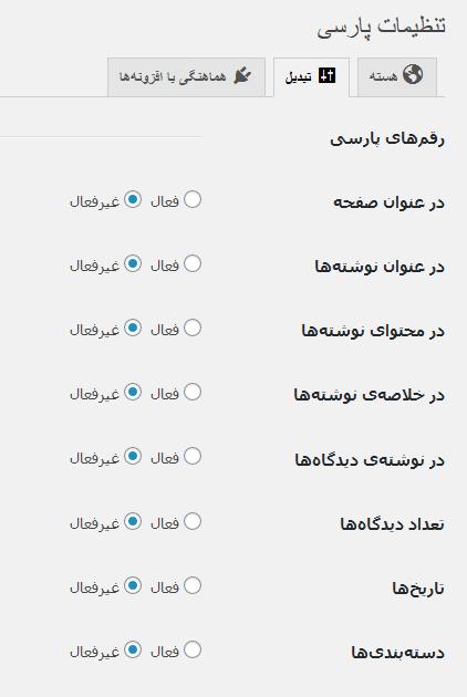 فارسی کردن اعداد در وردپرس با افزونه