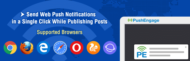 افزونه PushEngage Web Push Notifications