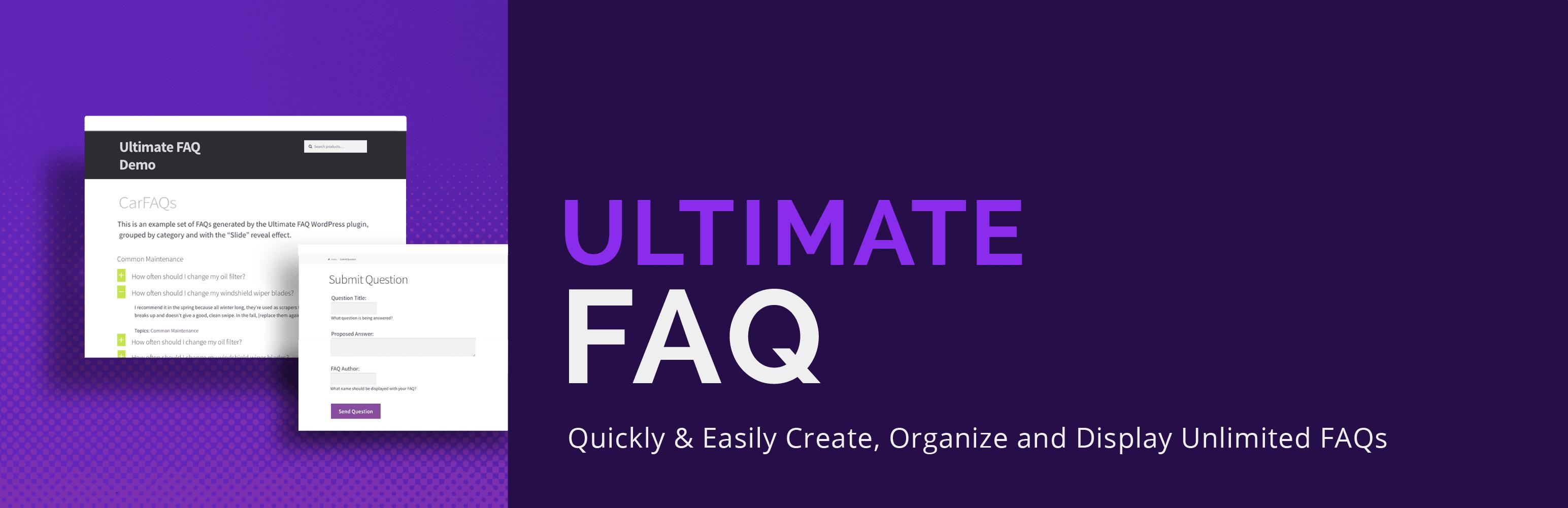 افزونه Ultimate FAQ
