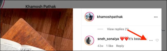 حذف کامنت اینستاگرام در وب
