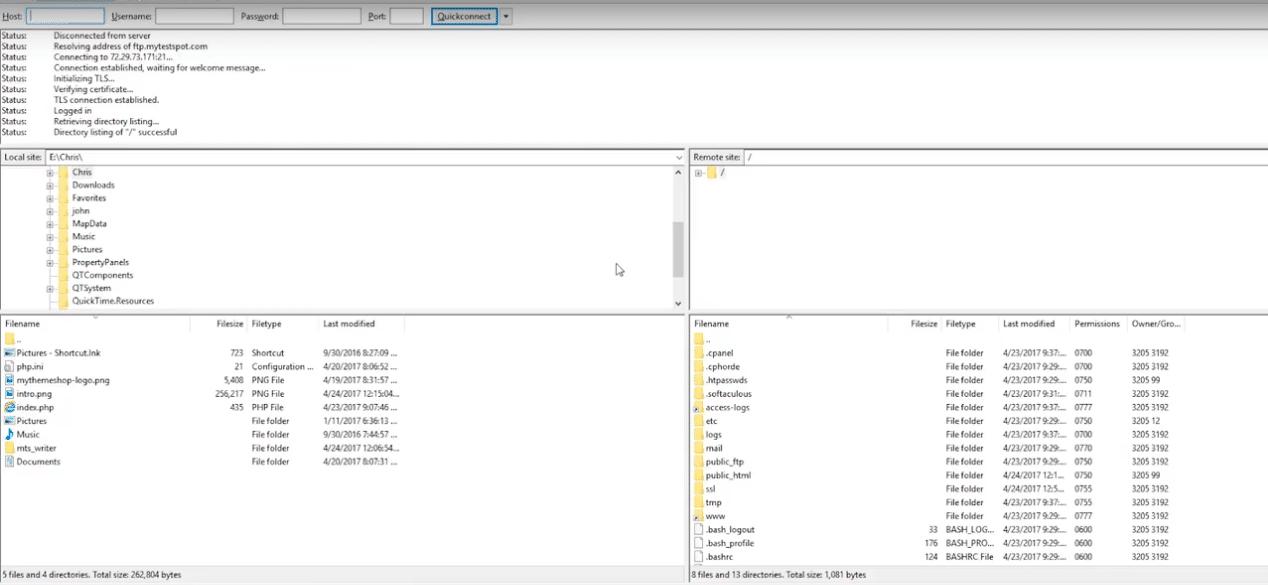 بارگذاری فایل ها در وردپرس با ftp