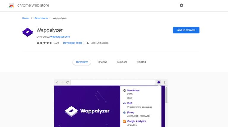 تشخیص CMS سایت با Wappalyzer