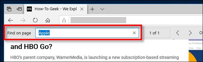 جستجو در صفحه Microsoft Edge