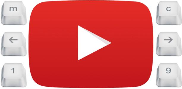 کلیدهای میانبر صفحه کلید برای یوتیوب