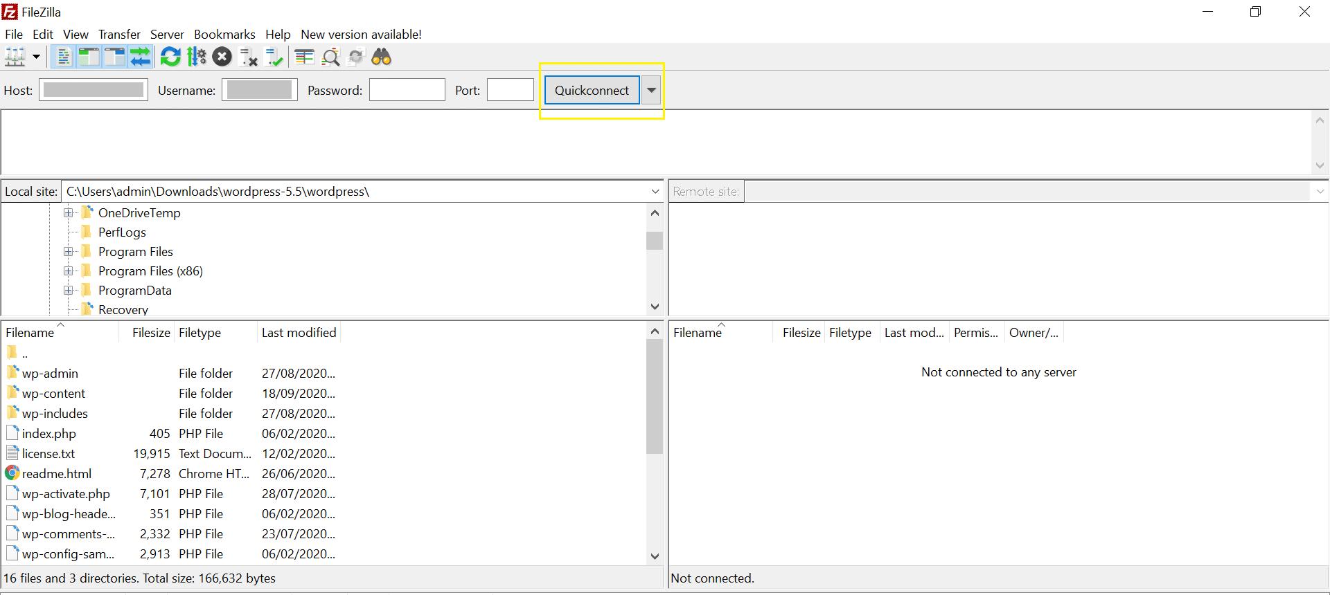 صادر کردن سایت با FTP و phpMyAdmin