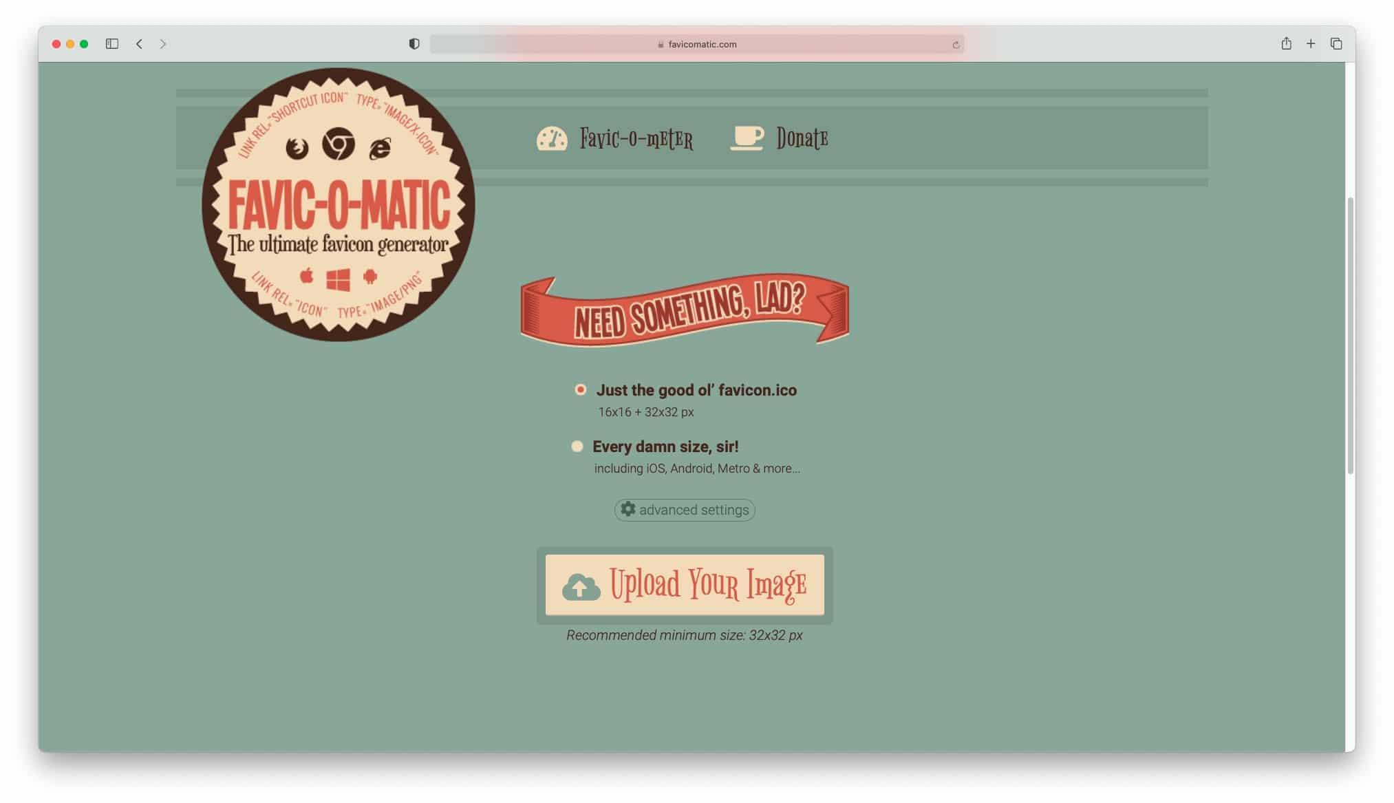 ابزار Favicomatic برای ایجاد فاوآیکون سایت