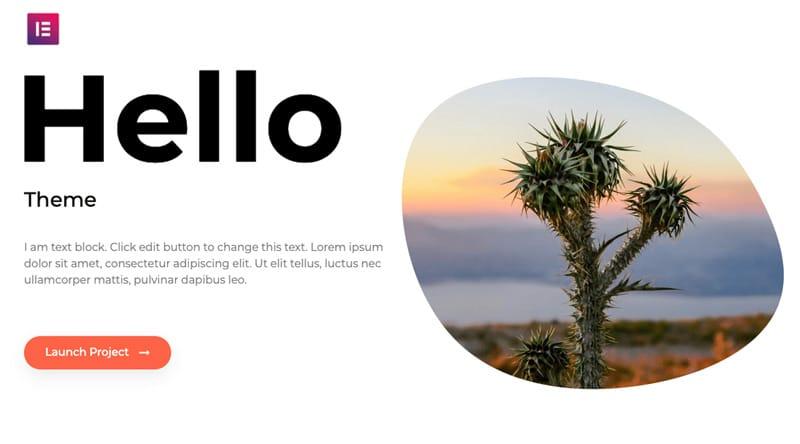 قالب رایگان Hello Elementor