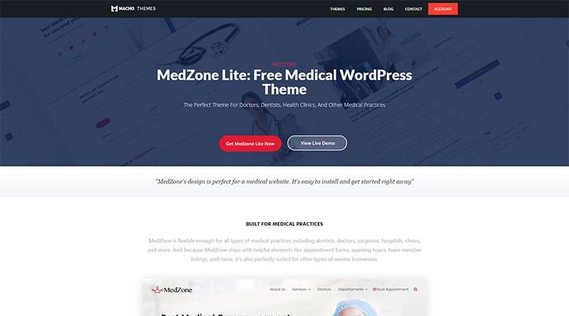 قالب MedZone Lite