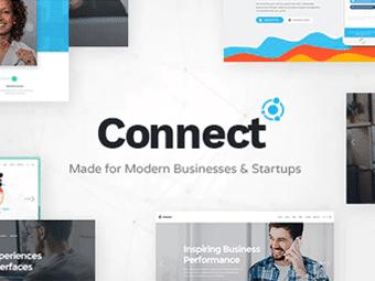 قالب Connect - تم شرکت نرم افزاری