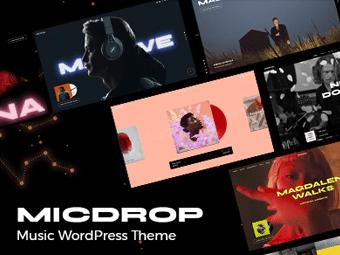 قالب وردپرس موزیک Micdrop