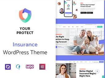 قالب YourProtect - قالب وردپرس بیمه و امور مالی